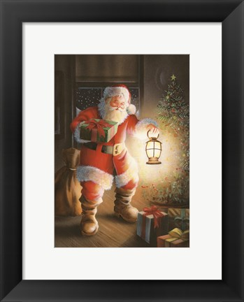 Framed Presents By Lamp Light Print
