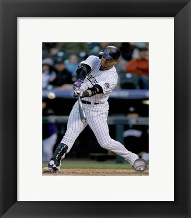 Framed Carlos Gonzalez 2015 Action Print