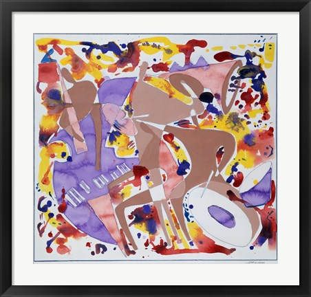 Framed Abstract Jazz Print