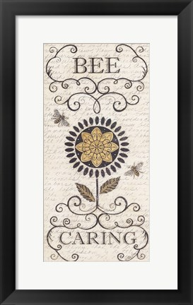 Framed Bee Caring Print