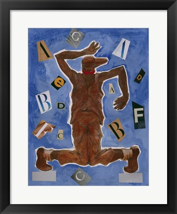 Framed Untitled (Dancer with Glasses) Print