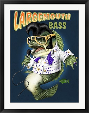 Framed Largemouth Bass Print
