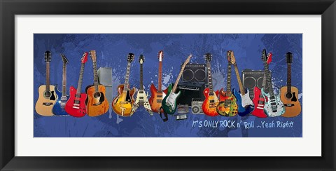 Framed Guitars - It's Only Rock n' Roll Print