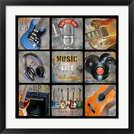Framed Music Patch Print
