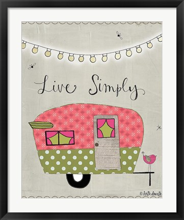 Framed Simple Camper Print