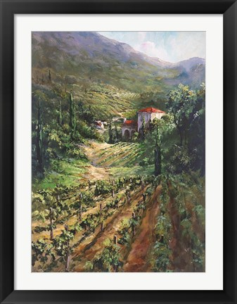 Framed Tuscany Vineyard Print
