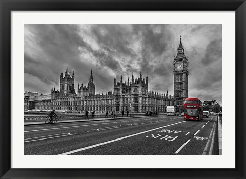 Framed Double Decker, London Print