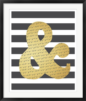 Framed Faux Gold Ampersand Print