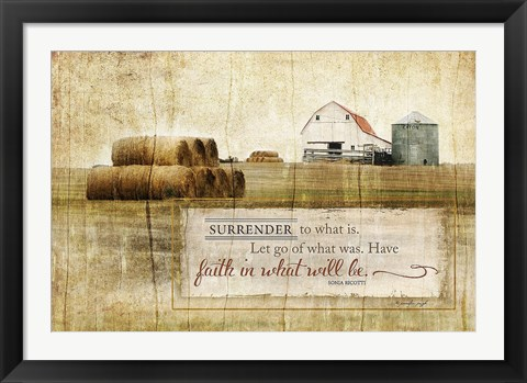 Framed Surrender to What Is Print