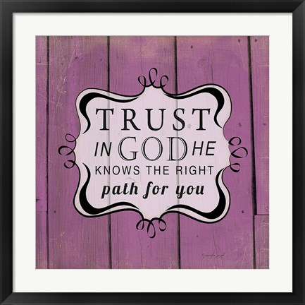 Framed Trust in God Print