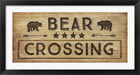 Framed Bear Crossing Print