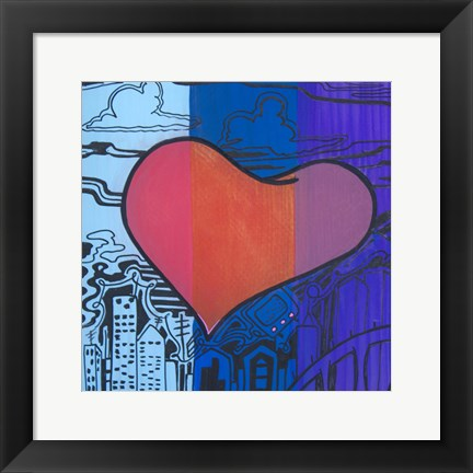 Framed Heart 6 Print