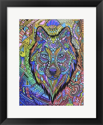 Framed Animals Of Pride - Wolf Print