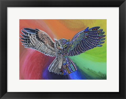 Framed Animals Of Pride - Owl Print