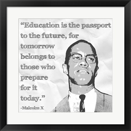 Framed Education is the Passport to the Future Print