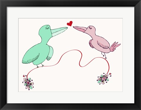 Framed Love Birds Print