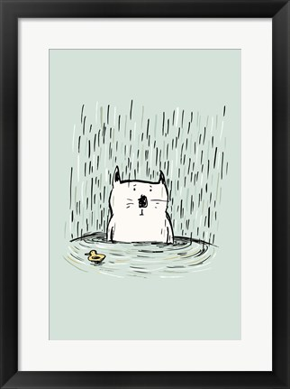 Framed Soggy Cat Print
