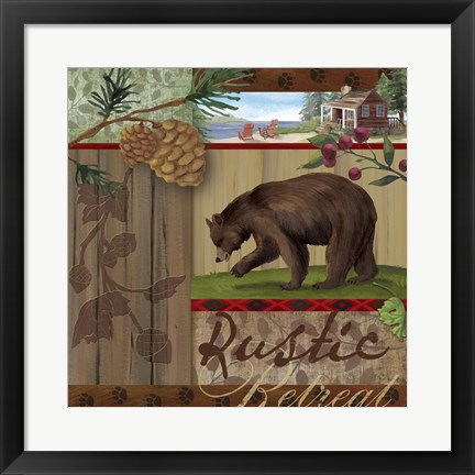 Framed Rustic Retreat I Print