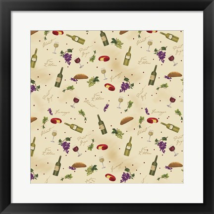 Framed Wine Pattern II Print