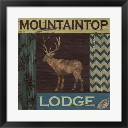 Framed Mountain Lodge Print