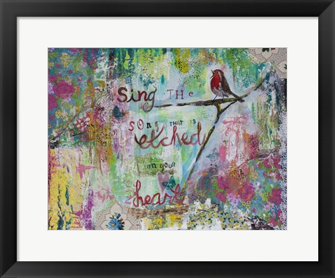 Framed Sing The Song Print
