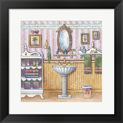 Framed At The Sink II Print