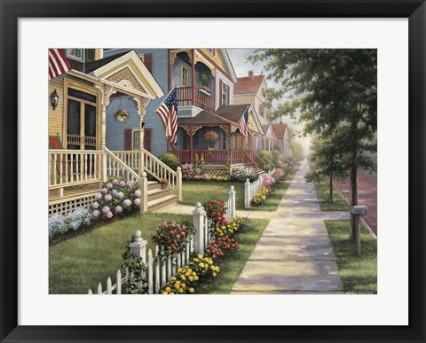 Framed Country Homes Print
