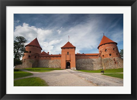 Framed Island Castle by Lake Galve, Trakai, Lithuania VI Print