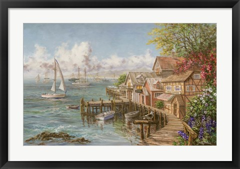Framed Mariner's Haven Print