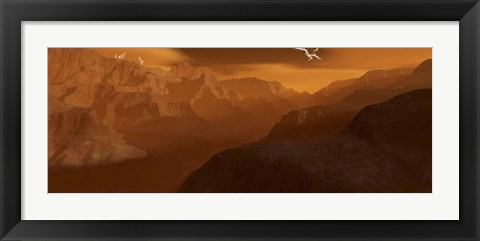 Framed Maxwell Montes Mountain Range on the Planet Venus Print