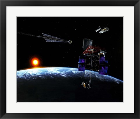 Framed Mission to an Earth-approaching Asteroid Print