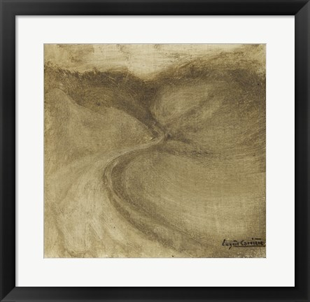 Framed Landscape With Winding Road Print