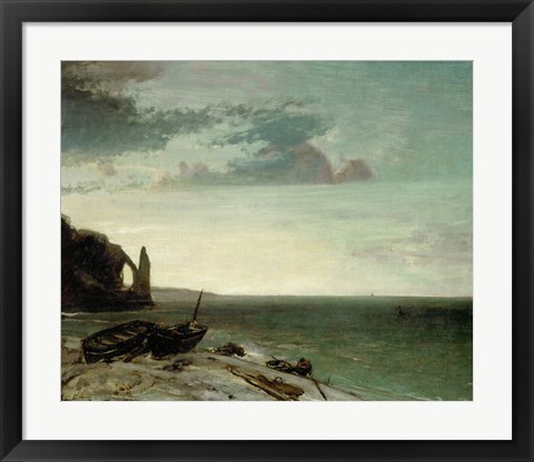 Framed Sea At Etretat, 1853 Print