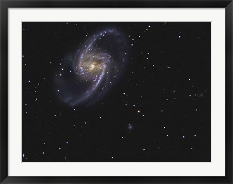 Framed NGC 1365 is a barred spiral galaxy in the Constellation Fornax Print