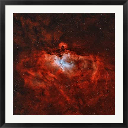 Framed Eagle Nebula in the Constellation Serpens Print