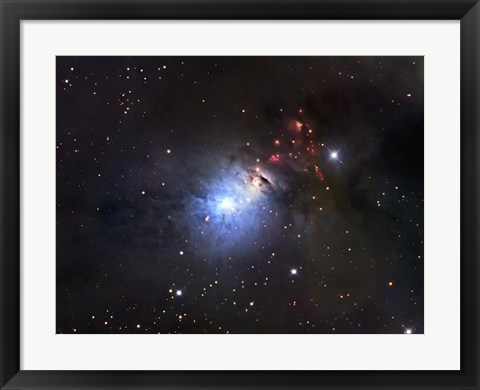 Framed NGC 1333, a reflection Nebula and part of the Perseus molecular cloud complex Print