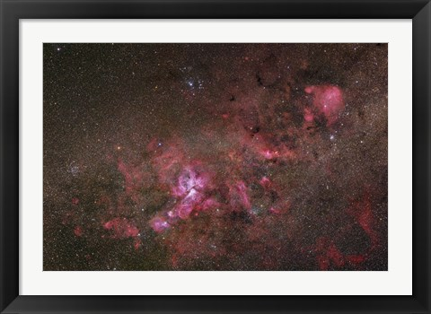 Framed NGC 3372, The Eta Carinae Nebula I Print