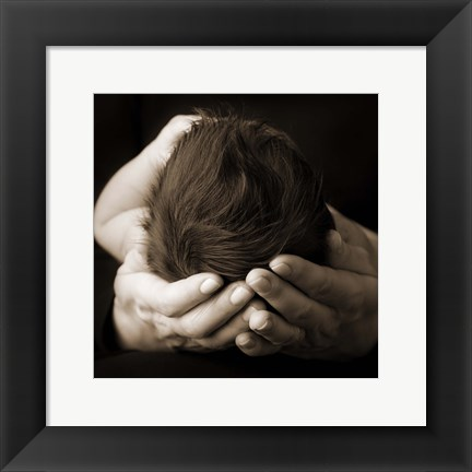 Framed Baby And Adult Hand II Print