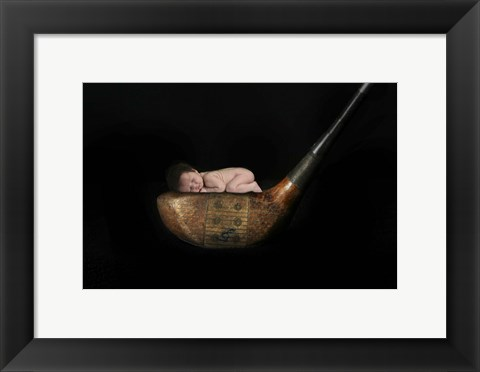 Framed Dean Lisa Baby On Golf Club II Print