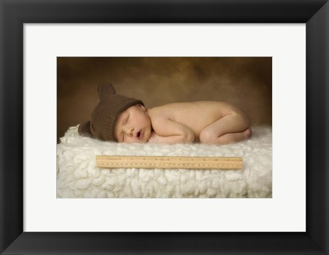 Framed Cox Ii Baby With Ruler Print