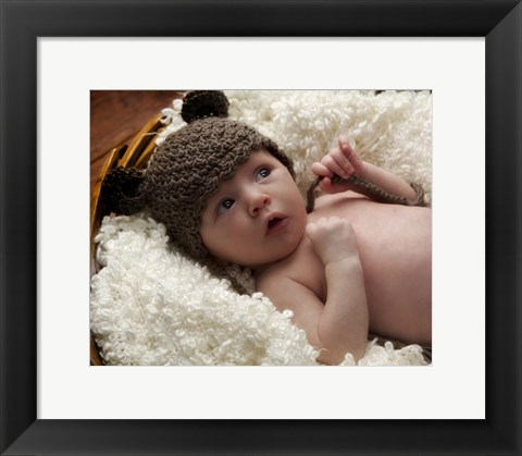 Framed Baby And Brown Ears Print