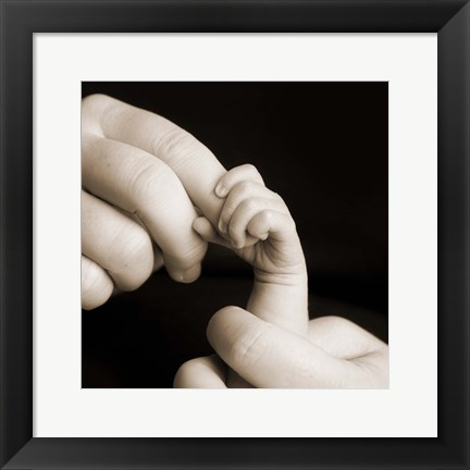 Framed Baby Fingers And Hands Print