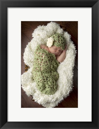 Framed Baby In Knit Pod Print