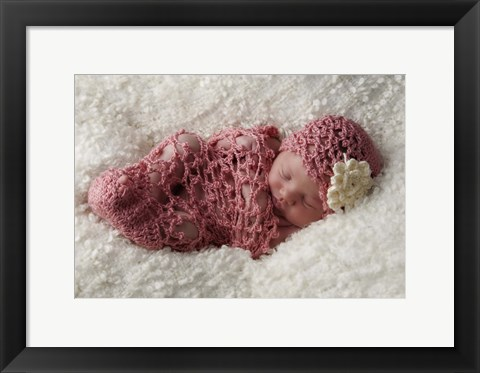 Framed Baby Pink Knit Print