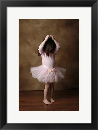 Framed Little Girl In Ballet Outfit Print