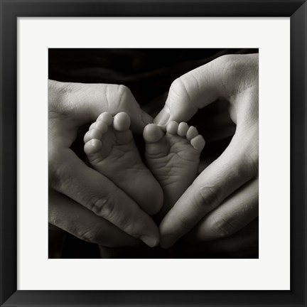 Framed Two Baby Feet Print