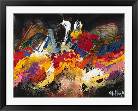 Framed Abstract Black 1 Print