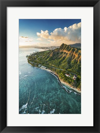 Framed Diamond Head Lighthouse Print