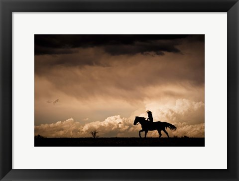 Framed Ride the Storm Print