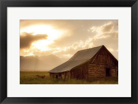 Framed Mountain Home Print